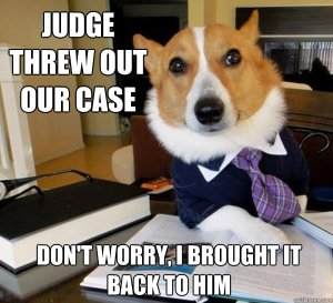 Copyright Troll Law Dog